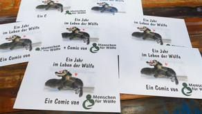"""Neuauflage unseres Comics """"Ein Jahr im Leben der Wölfe"""" ist eingetroffen!"""