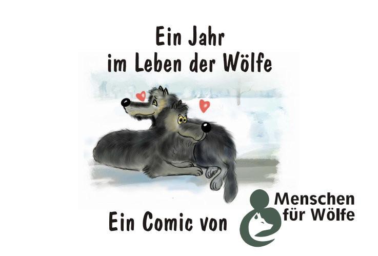 """Comic """"Ein Jahr im Leben der Wölfe"""""""