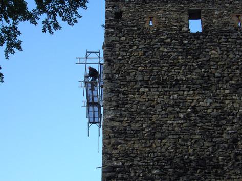 Konservierung der Burgruine Haldenstein