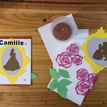 """invitations anniversaire """"La Belle et la Bête"""""""
