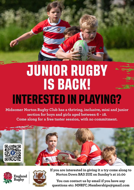 Junior Rugby is Back!!!!