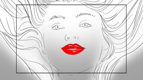 Storyboard Shine Volupte Rouge de Yves Saint Laurent.