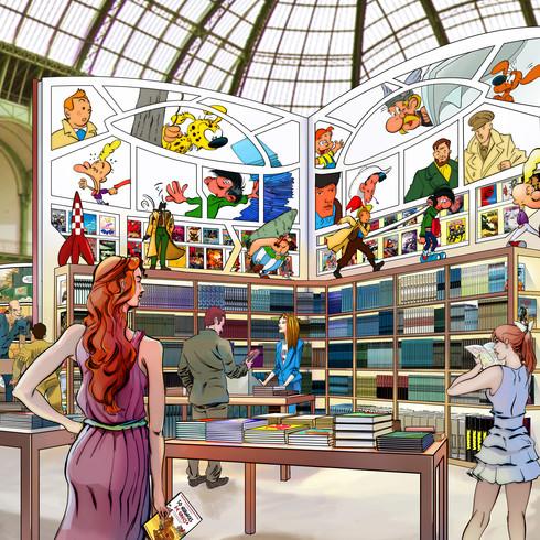 "Le Grand Palais de la BD ""Bibliotheque"""