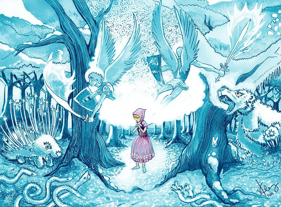 Gerda en el pais de la reina del hielo.J