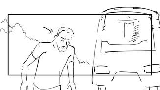 Storyboard pour le court métrage Passage