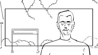 Storyboard pour le court métrage Passage.
