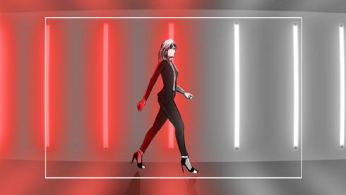 "Storyboard ""Walk the line"" de Yves Saint Laurent."