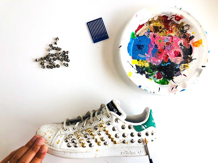 Adidas Stan Smith Gold & Paint