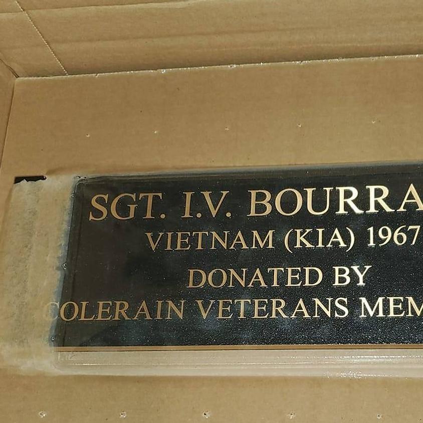 I.V. Bourrage Plaque Dedication