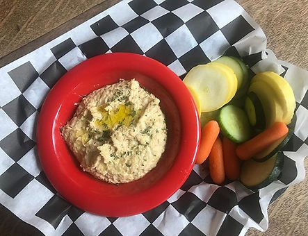 We're experimenting with some new additions to our menu! Today we are introducing fresh made hummus,