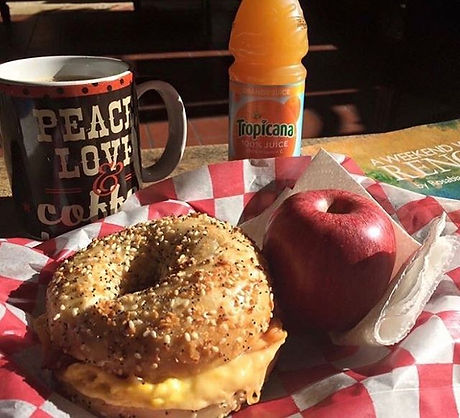 Need a little something special to kick off the work week_ How about a breakfast bagel_ We get our b
