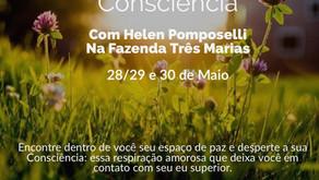 28 a 30 de Maio/2021 Retiro Despertar da Consciência na Fazenda Três Marias