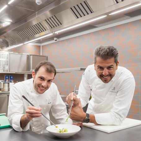 Aprenda o Macarrão Carbonara Vegetariano dos chefs Andrea Berton e Raffaele Lenzi do Berton Al Lago