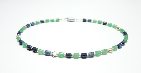 Jade-Sodalith-Kette