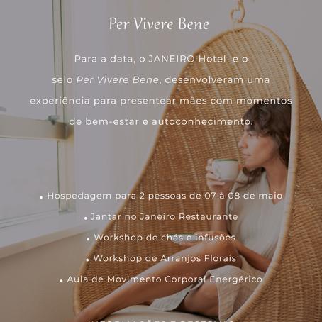 Dia das Mães Per vivere bene no Janeiro Hotel : momentos de bem-estar e autoconhecimento