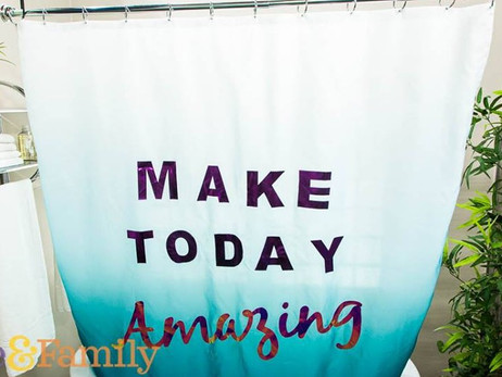 DIY Ombre Shower Curtain