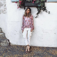 Blouse by Topshop   Trousers by Michelle Mason   Shoes by Just Fab