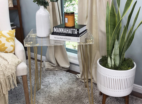 DIY: THE Most Gorgeous Acrylic End Table / Nightstand