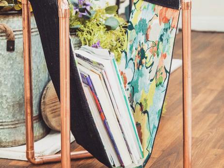DIY Copper Pipe Magazine Holder