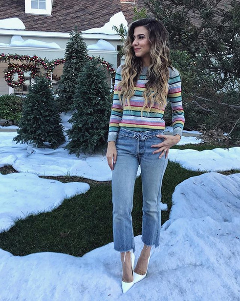 Sweater by Talbots   Jeans by Levis   Shoes DIY