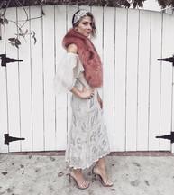 Vintage Dress Faux Fur by TUC+WES Headband was a DIY Heels by Stuart Weitzman