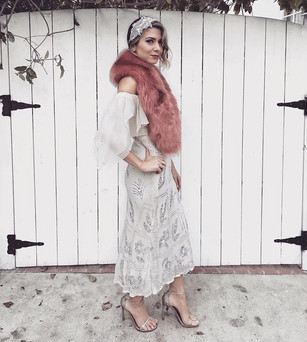 Vintage Dress Faux Fur by TUC+WES Headband was a DIY Heels by Stuart Weitzman