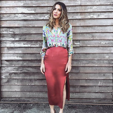 Skirt by WAYF Blouse by Johnny Was