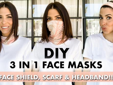DIY: 3 in 1 Mask! Scarf, Headband + Mask
