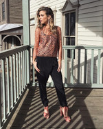 Michelle Mason Lace Blouse + Trousers   Shoes by JustFab