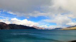 Emerald blue water