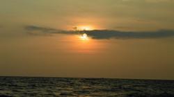 Setting sun @ Kanyakumari