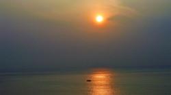 Sunrise at the tip of the Indian Subcontinent, Kanyakumari
