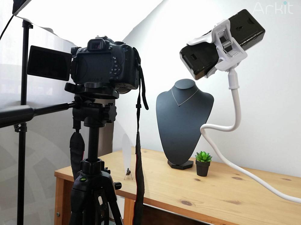 Product photography setup | ARKIT Inc.