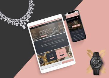 CM fine jewels - E commerce website