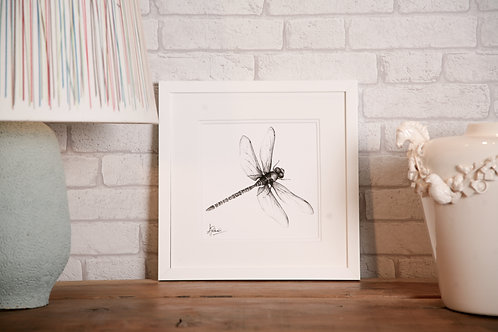 Whizzing Dragonfly Print