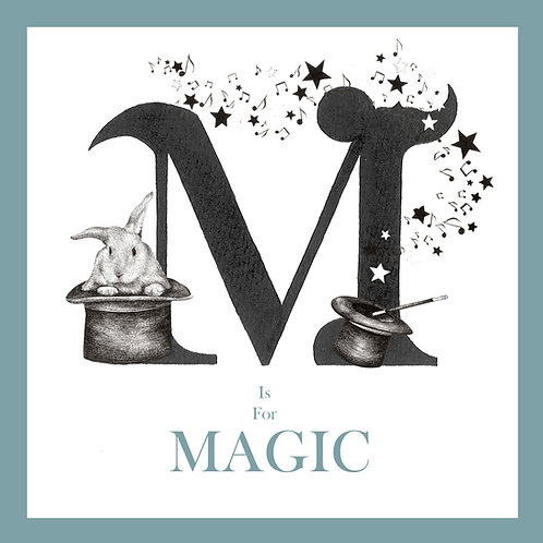 M is for Magic Greetings Card