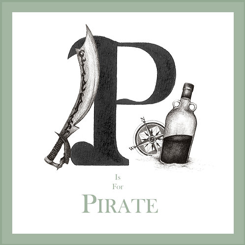 P is for Pirate Greetings Card