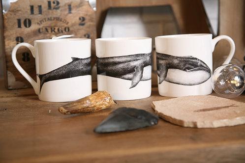 Blue Whale Fine Bone China Mug