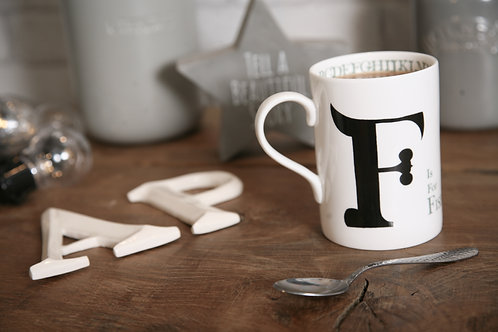 F is for Fishing mug