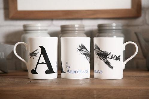 A is for Aeroplane mug