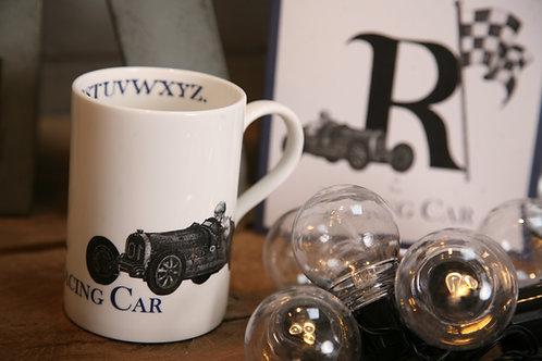 R is for Racing Car Mug