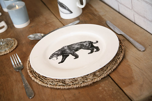 Sabre tooth tiger fine bone china plates