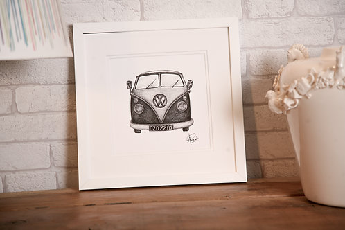 VW Camper Van Print