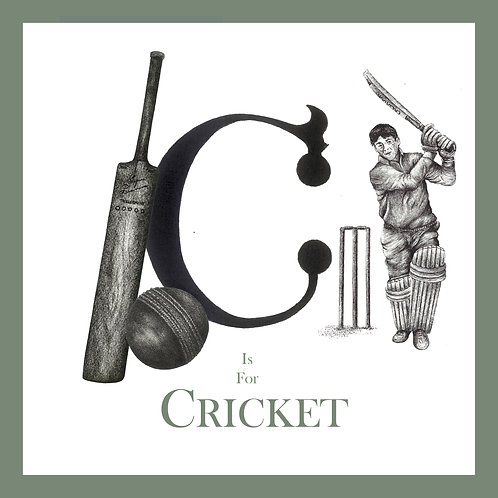 C is for Cricket Greetings Card