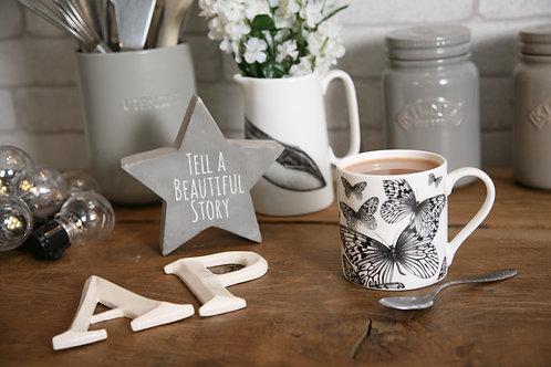 Butterfly fine bone china mug