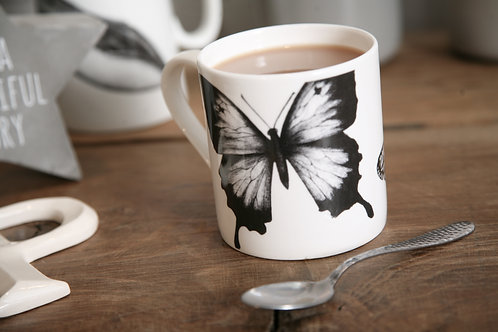 Two butterfly design mug