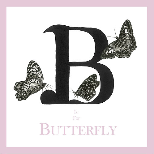 B is for Butterfly Greetings Card