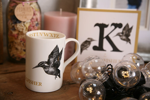 K is for Kingfisher Mug