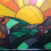 Hares at Sunrise