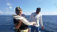 Family fishing trip Riviera Maya